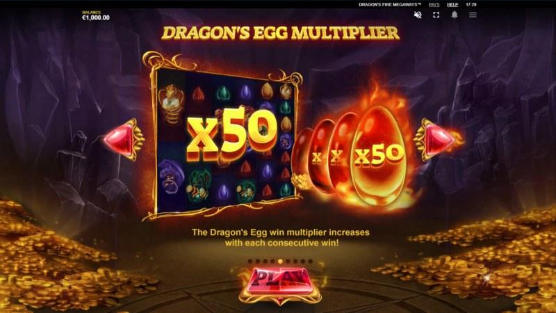 Dragon's Fire Megaways :: Dragons Egg Multiplier