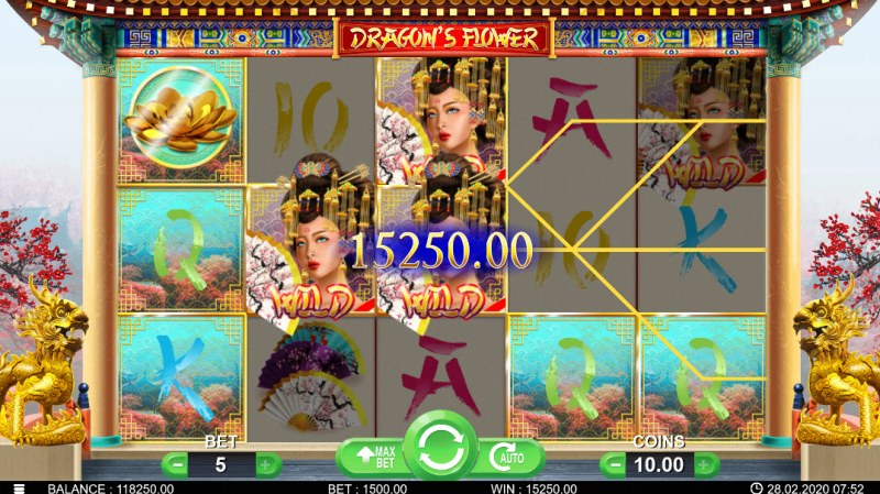 Dragon's Flower :: Multiple winning paylines
