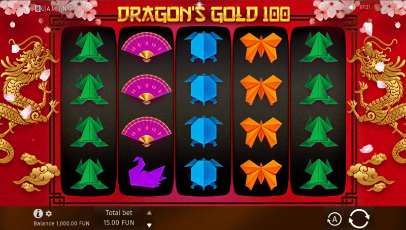 Dragon's Gold 100 :: Base Game Screen