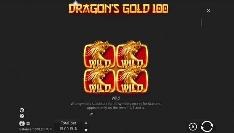 Dragon's Gold 100 :: Wild Symbol Rules
