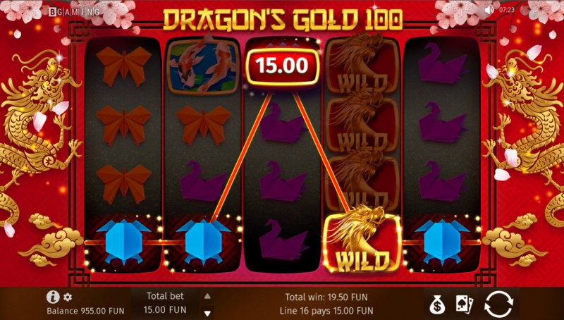 Dragon's Gold 100 :: A five of a kind win