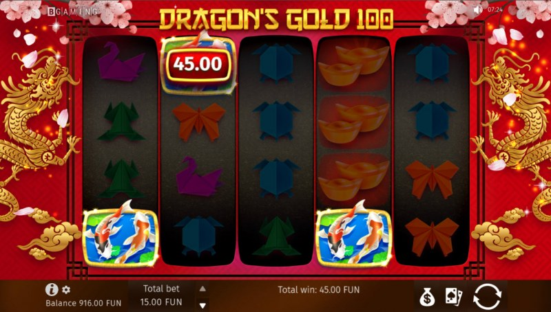 Dragon's Gold 100 :: Scatter Win