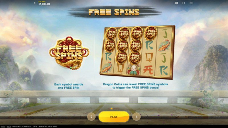 Dragon's Luck Deluxe :: Free Spin Feature Rules