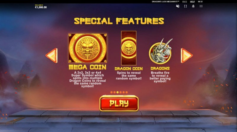 Dragon's Luck Megaways :: Special Features
