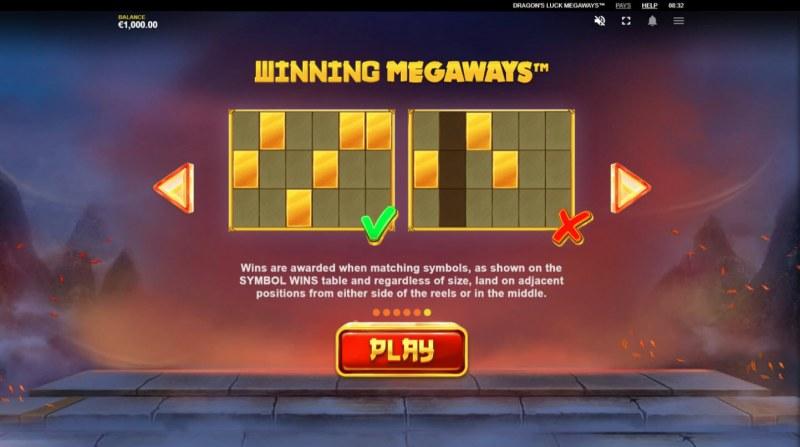 Dragon's Luck Megaways :: Winning Megaways