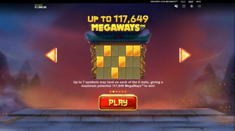 Dragon's Luck Megaways :: Up to 117649 ways to win