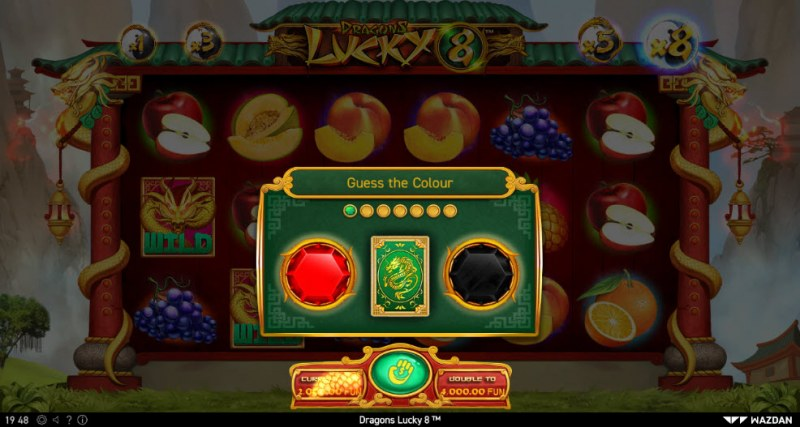 Dragons Lucky 8 :: Black or Red Gamble Feature