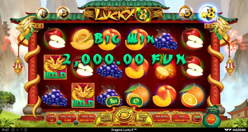 Dragons Lucky 8 :: Big Win