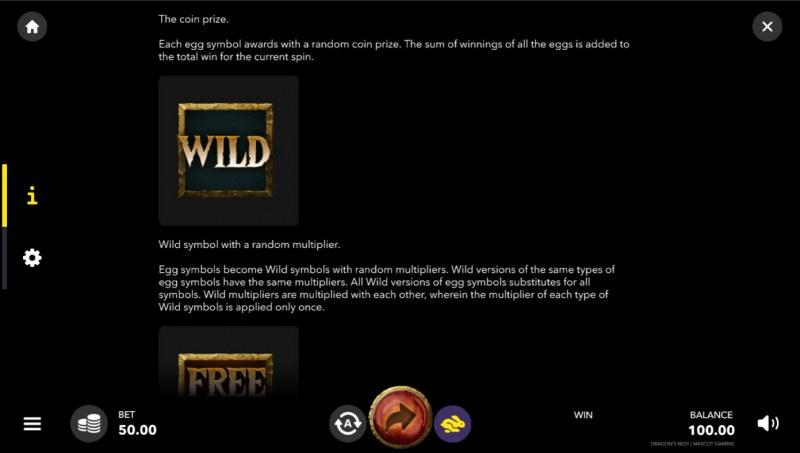 Dragon's Nest :: Wild Symbol Rules