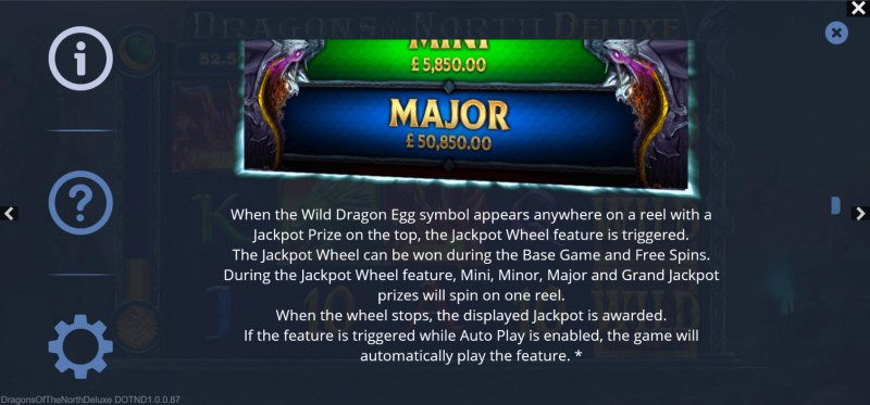 Dragons of the North Deluxe :: Jackpot Rules