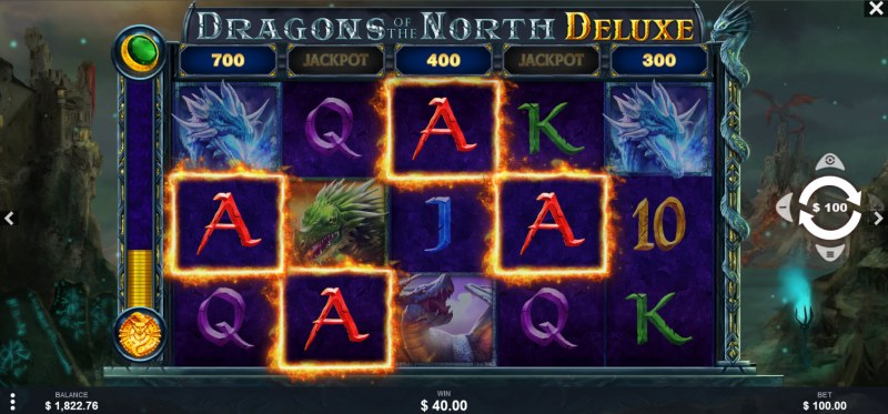 Dragons of the North Deluxe :: A four of a kind win