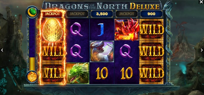 Dragons of the North Deluxe :: Multiple winning paylines
