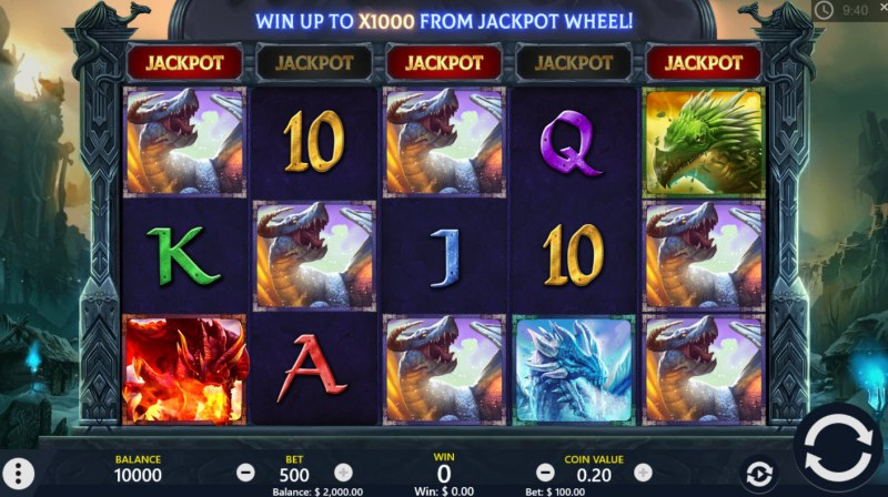 Play slots at Wicked Jackpots: Wicked Jackpots featuring the Video Slots Dragons of the North with a maximum payout of $50,000