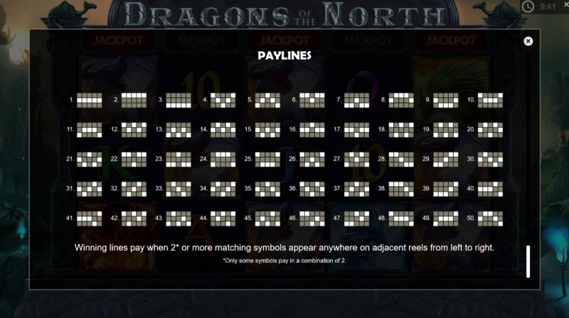 Dragons of the North :: Paylines 1-50