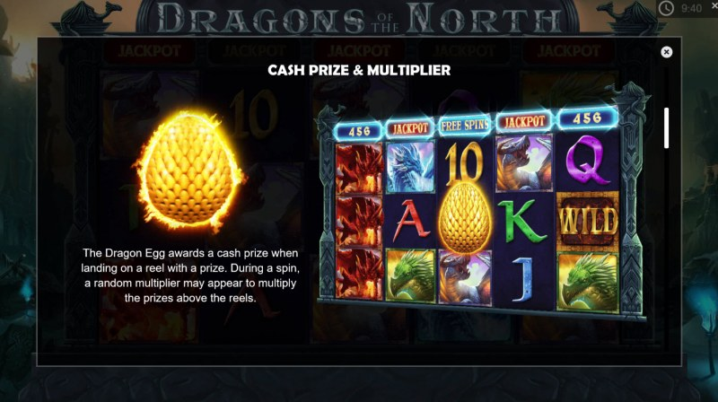 Dragons of the North :: Cash Prize and Multipliers