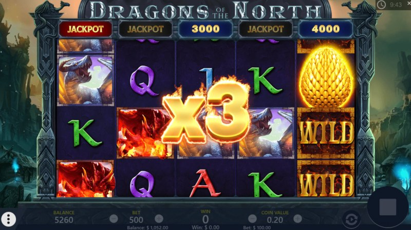 Dragons of the North :: X3 Win Multiplier Awarded