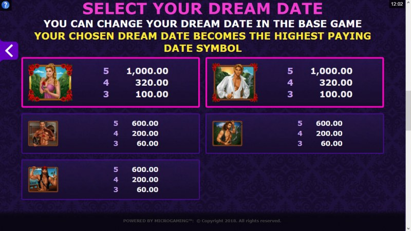 Dream Date :: Select Your Dream Date
