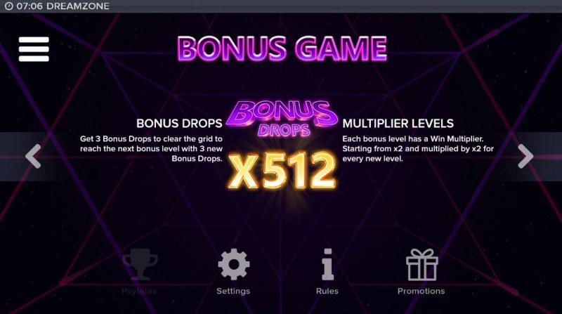 Dream Zone :: Bonus Game Rules