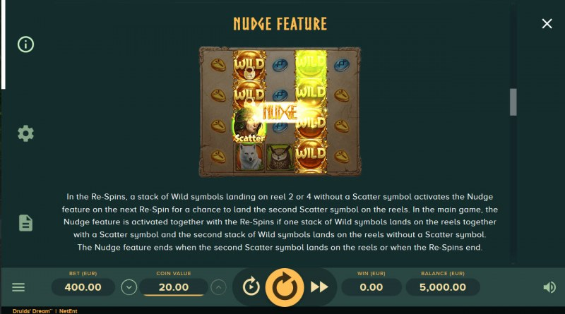 Druids Dream :: Nudge Feature