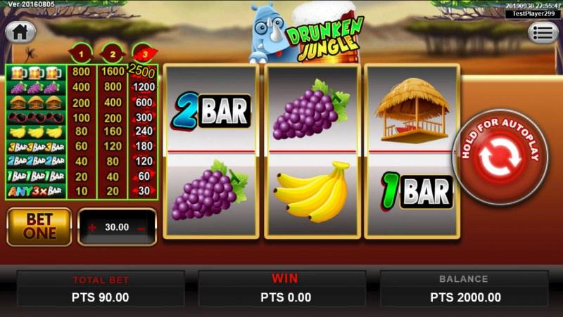 Drunken Jungle :: Main Game Board