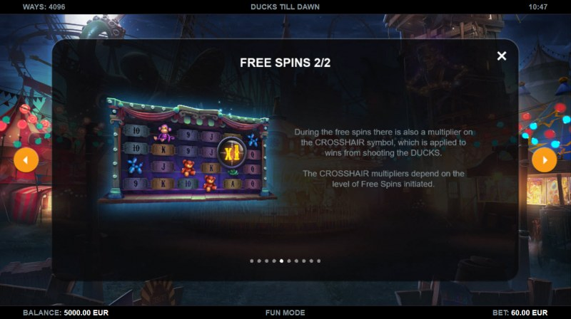 Ducks Till Dawn :: Free Spin Feature Rules