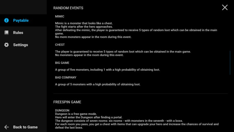 Dungeon Immortal Evil :: Feature Rules