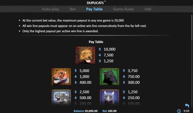 Duplicats :: General Game Rules