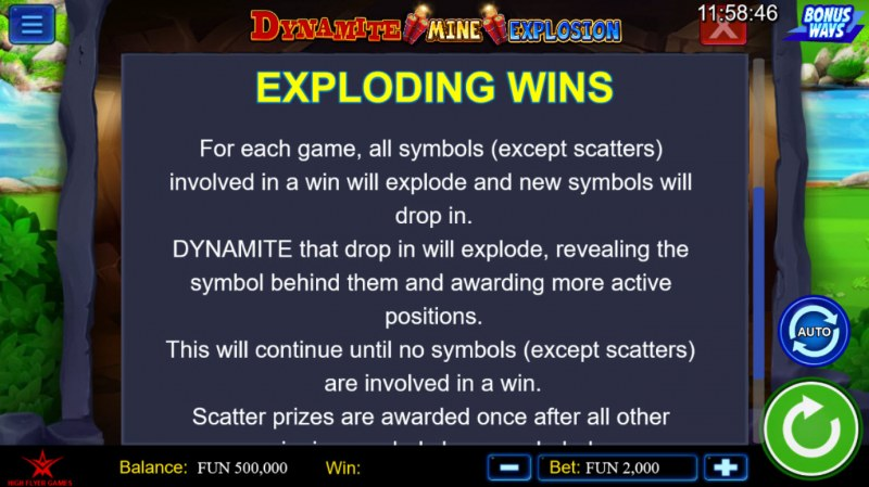 Dynamite Mine Explosion :: Exploding Wins