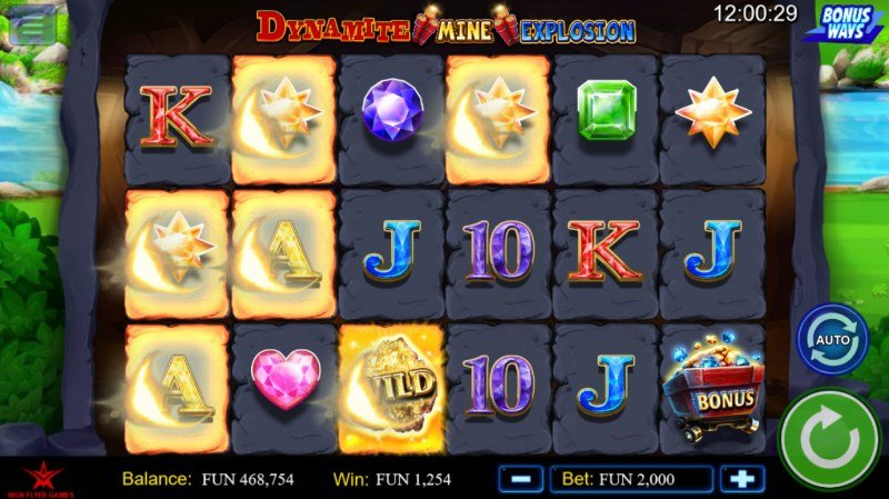 Dynamite Mine Explosion :: A four of a kind win