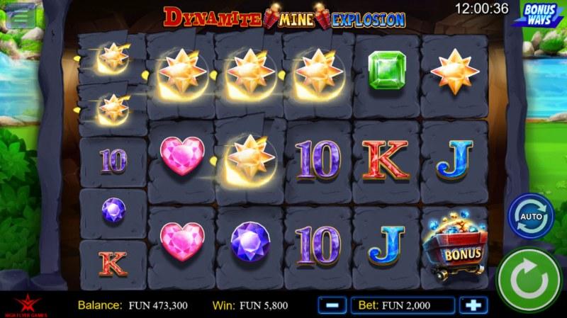 Dynamite Mine Explosion :: Multiple winning combinations