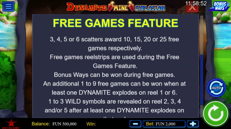 Dynamite Mine Explosion :: Free Games Feature