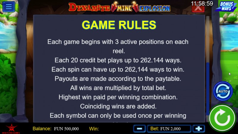 Dynamite Mine Explosion :: General Game Rules