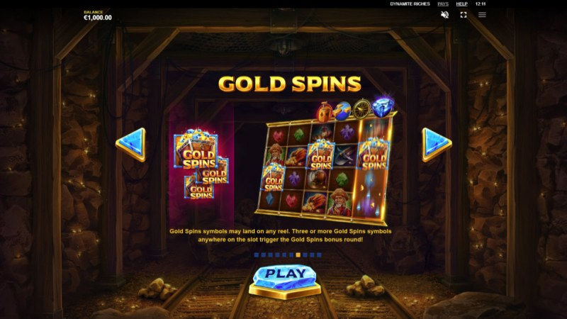 Dynamite Riches :: Gold Spins