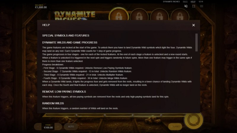 Dynamite Riches :: General Game Rules