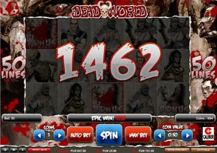 Enzo Casino featuring the Video Slots Deadworld with a maximum payout of $1,250