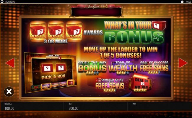Virgin featuring the Video Slots Deal or No Deal What's In Your Box with a maximum payout of $500,000