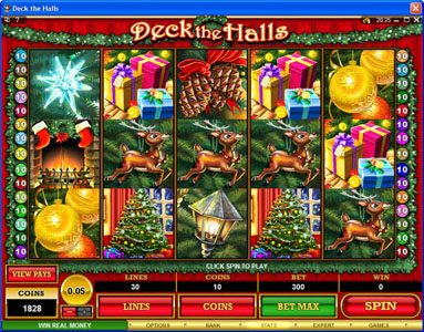 Play slots at Casino Splendido: Casino Splendido featuring the Video Slots Deck the Halls with a maximum payout of $1,200,000