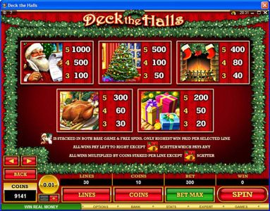 777Dragon featuring the Video Slots Deck the Halls with a maximum payout of $1,200,000