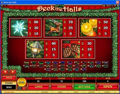 Casino Red Kings featuring the Video Slots Deck the Halls with a maximum payout of $1,200,000