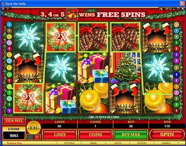 Platinum Play featuring the Video Slots Deck the Halls with a maximum payout of $1,200,000