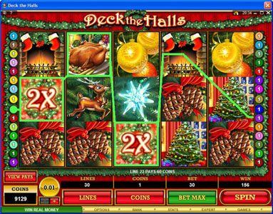 All Slots featuring the Video Slots Deck the Halls with a maximum payout of $1,200,000