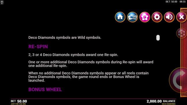 Deco Diamonds :: Feature Rules