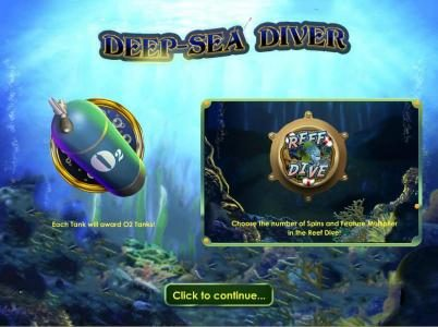 Betway featuring the Video Slots Deep Sea Diver with a maximum payout of $50,000