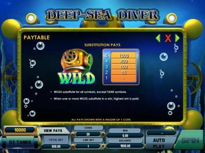 Play slots at Boo Casino: Boo Casino featuring the Video Slots Deep Sea Diver with a maximum payout of $50,000