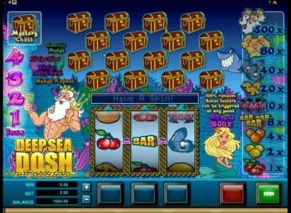 Play slots at EU Casino: EU Casino featuring the Video Slots Deep Sea Dosh with a maximum payout of $5,000