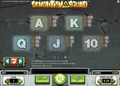 Slots Angel featuring the Video Slots Demolition Squad with a maximum payout of $20,000