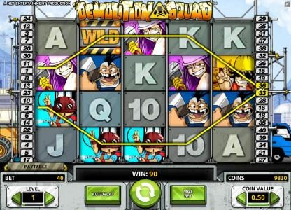 Casino Extra featuring the Video Slots Demolition Squad with a maximum payout of $20,000