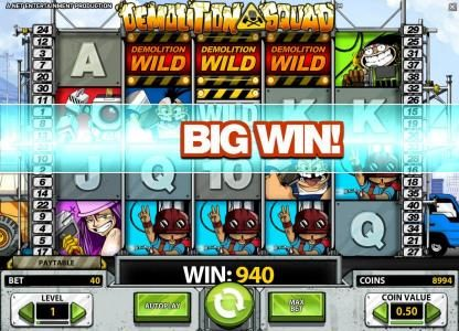 Malina featuring the Video Slots Demolition Squad with a maximum payout of $20,000