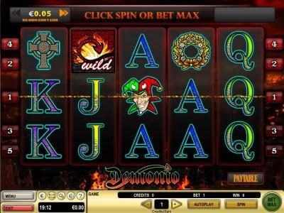 Vegas Baby featuring the Video Slots Demonio with a maximum payout of $25,000