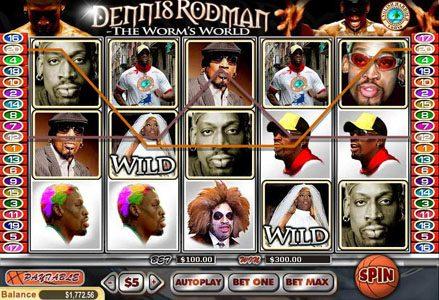 Play slots at Liberty Slots: Liberty Slots featuring the Video Slots Dennis Rodman with a maximum payout of $100,000